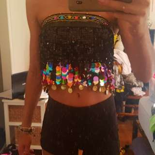 Strapless Colourful Festival Top