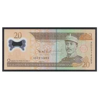 (BN 0114) 2009 Dominicana Rep 20 Peso, Polymer Note - UNC