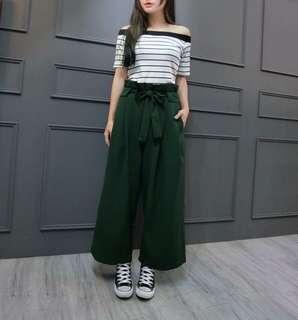 🚚 綠荷葉寬褲(S-L)
