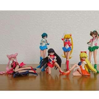 F/S Sailor Moon HG Tsukino Figure Lot sale 6Pcs Anime MANGA Gashapon Capsule