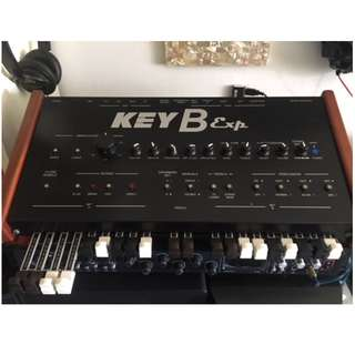 KeyB3 Exp. Hammond Organ Clone expansion module. Link to any midi keyboard and get the real Hammond sound Drawbars, Click, Percussion, Leslie effect, Crosstalk, Overdrive - everything you hear on a full Tone wheel B3 etc.