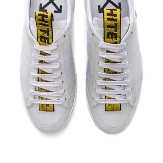 OFF- WHITE Leather Belt Sneakers