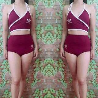 RESTOCK 👗2pc swimsuit 🌸freesize: small to semi large 🌸spandex fabric 🌸300