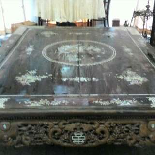 Antique old Solid Wood with Mother of Pearl Rest Bed