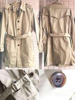 全新🆕男裝大碼Uniqlo 卡其乾濕褸 trench coat