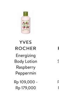 Body lotion yves rocher