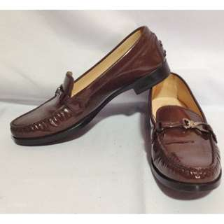 Authentic TOD'S Brown Patent Leather Loafers Size 36 1/2