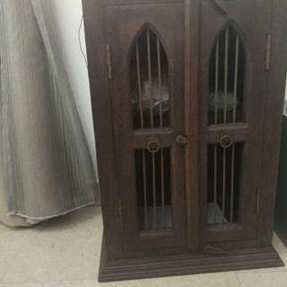 Antique indian teak cupboard