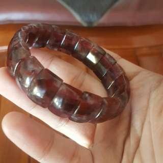 天然紅頭紫水晶【俗稱Auralite 23】手排(巴西料)