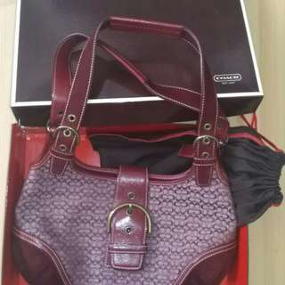 Coach Premium jacquard leather bag