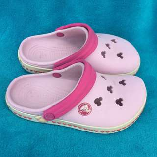 CROCS pink MICKEY MOUSE DISNEY crocband clog shoes for kids girls