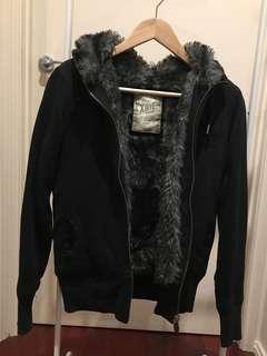 Furry jacket hoodie
