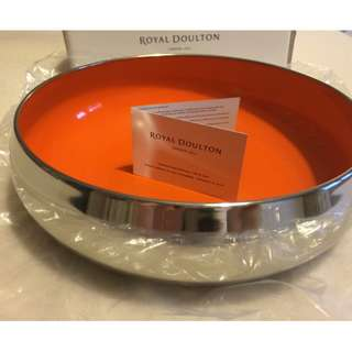 Brand New ROYAL DOULTON 'Pop In For Drinks' Medium Orange Bowl 20cm!