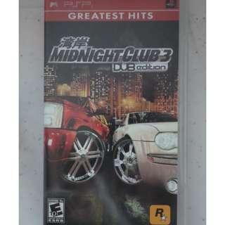 PSP UMD Game midnight club 3 dub edition silent hill origins