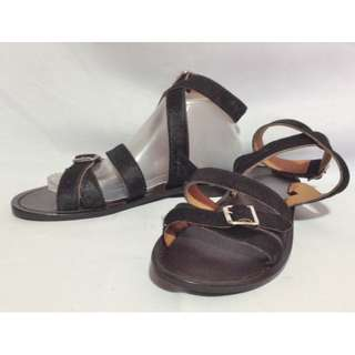 Authentic MARNI Animal Hair Strappy Sandals Size 39