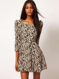 ASOS / Glamorous leopard print dress size 8