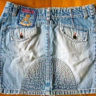 Von dutch pre-loved mini skirt