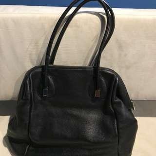 Coccinelle black leather satchel