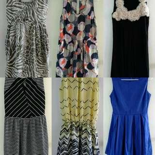 Pre-lover medium dresses (take all 6 for 1k)