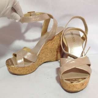Authentic JIMMY CHOO Strappy Wedge Size 36 1/2