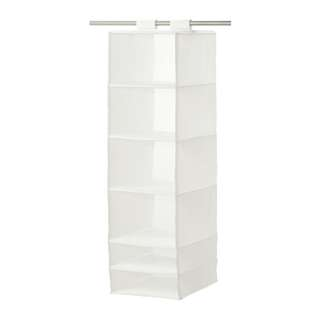 NEW Ikea SKUBB Storage with 6 compartments, white