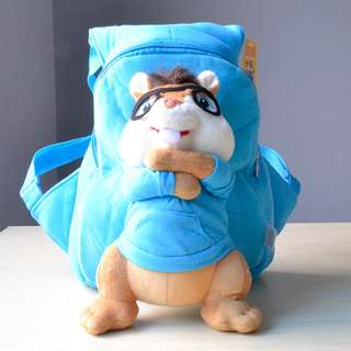 Cutie 3D Cartoon Plush Toy Backpack Outdoor Bag-Alvin