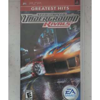 PSP UMD Game need for speed underground rivals wipeout pure