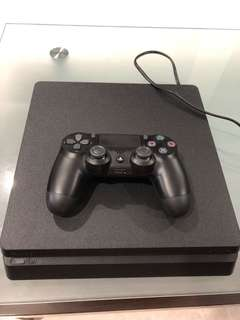 Playstation 4 Slim Console 500GB plus one controller