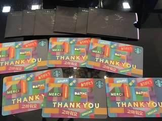Starbucks Gifts Cards worth RM180