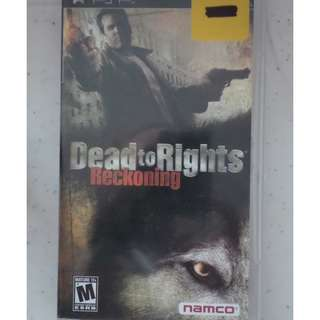 PSP UMD Game dead to rights reckoning open season