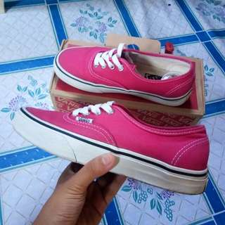 Vans Authentic Fushia Pink