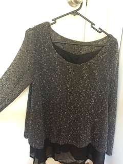 Double layer jumper/top with slip
