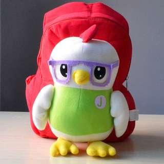Cutie 3D Cartoon Plush Toy Backpack Outdoor Bag-Jojo Pony Didi Doraemon 1-4y