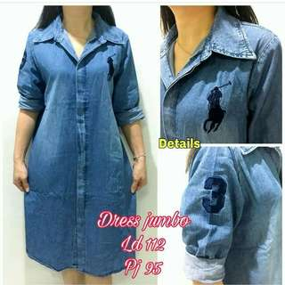 Dress jeans import#realpic#detail cek d pic