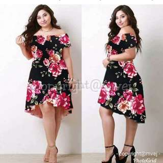 ✔NEW ARRIVAL ☺☺☺     👉 BESTSELLER ❤❤❤ ✔360 ✔US PLUS SIZE FLORAL DRESS ✔LONGBACK DESIGN ✔CREPE FABRIC ✔FREESIZE ONLY -(XL-XXL FRAME) ✔1 COLOR AVAIL