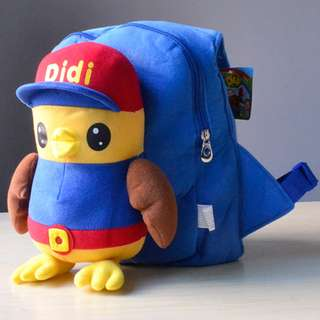 Cutie 3D Cartoon Plush Toy Backpack Outdoor Bag-Didi