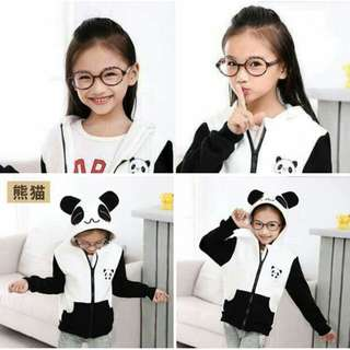 ✔NEW ARRIVAL ☺☺☺     👉 BESTSELLER ❤❤❤ ✔300 ✔PANDA ZIPPERY HOODY JACKET ✔COTTONY FABRIC ✔FREESIZE ONLY -(2 TO 5 YEAR OLD FRAME) ✔1 COLOR AVAIL