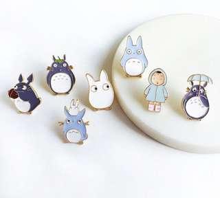 Totoro Enamel Pins