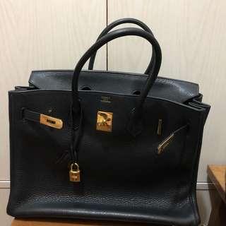 Hermes bag birkin 35 bk 35 black bag