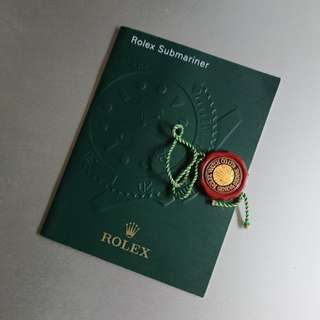 Rolex Submariner Booklet New Old Stock + Red Seal Tag 勞力士