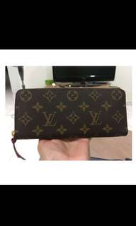 Louis Vuitton Clemence Wallet in Monogram Fuchsia