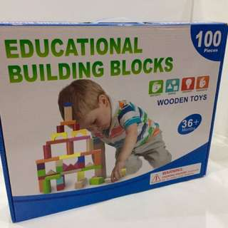 Educational Building Blocks (100 pieces) Wooden toys