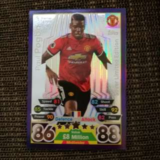 Match Attax | Sliver Limited Edition | Paul Pogba | 17/18 |