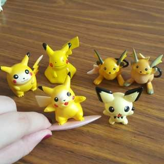Nintendo Pikachu Figurines Set