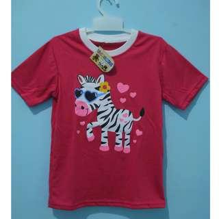 kaos anak zebra pink