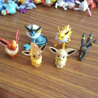 Eevee Evolution Pokemon Figurines