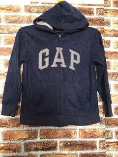 Gapkids fully zip hoodie dark blue color