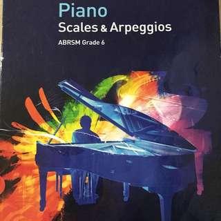 ABRSM Grade 6 Piano Scales & Aroeggios