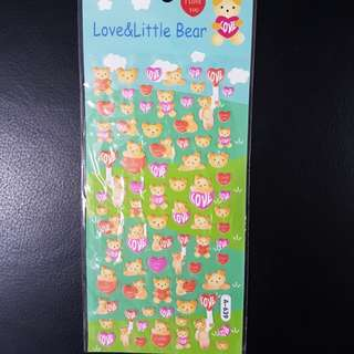 BN Lovely Bear Pop-up Stickers