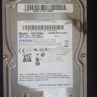 FAULTY Samsung Hard Disk 1TB